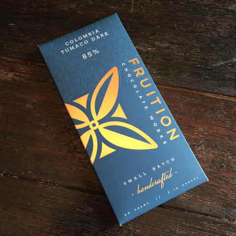 Fruition Chocolate Works 85% Columbia Tumaco Dark Chocolate Bar