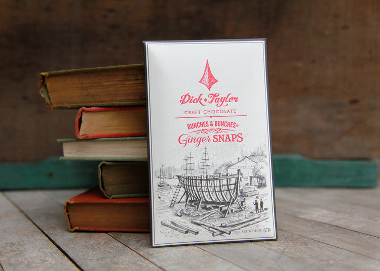 "Dick Taylor Craft Chocolate ""Bunches and Bunches"" Ginger Snaps Bar"