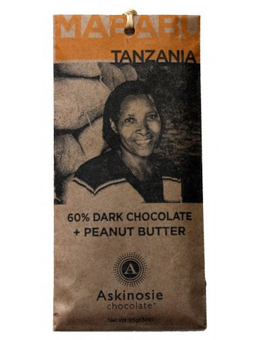 Askinosie Mababu, Tanzania 60% Dark with Peanut Butter