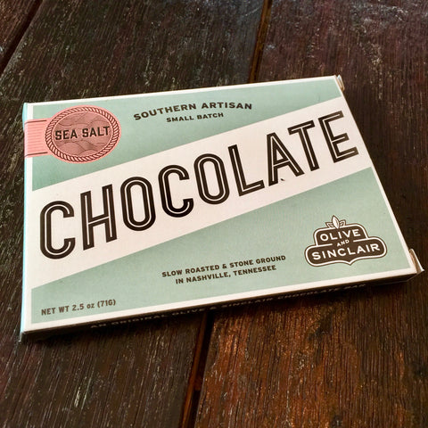 Olive and Sinclair Sea Salt Dark Chocolate Bar
