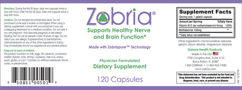 Order a Year's Supply of Zobria and Save. You Get One Free Bottle for Every Five Bottles You Purchase! Free S&H.