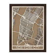 Load image into Gallery viewer, Wood and Cork Framed Map