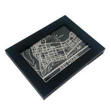 "Load image into Gallery viewer, Abu Dhabi - Stainless Steel Map - 5""x7"""