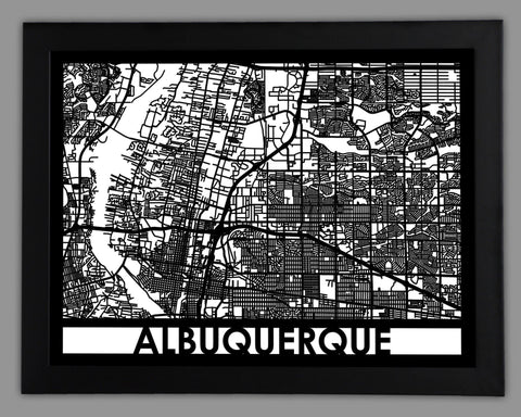 Albuquerque - Cool Cut Map Gift
