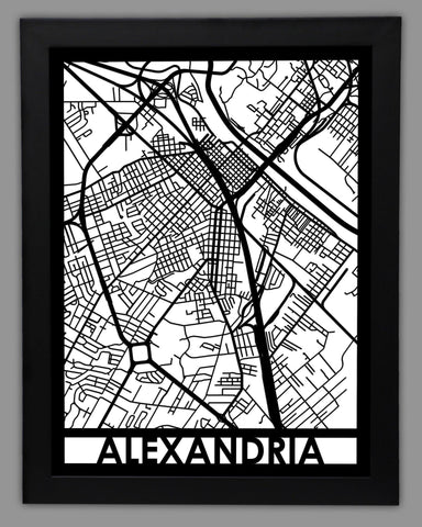 Alexandria, LA - Cut Maps