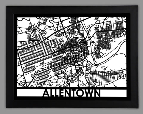 Allentown - Cool Cut Map Gift