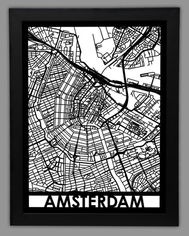 Amsterdam - Cool Cut Map Gift