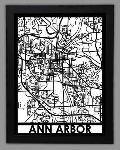 Ann Arbor - Cool Cut Map Gift