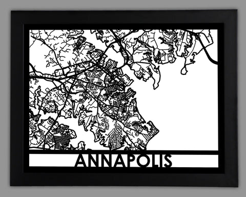Annapolis - Cool Cut Map Gift