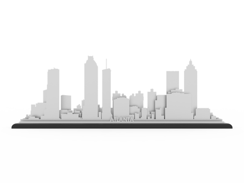 Atlanta Skyline - Cool Cut Map Gift
