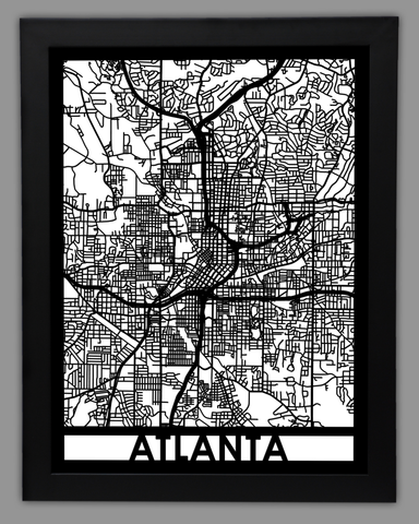 Atlanta - Cool Cut Map Gift
