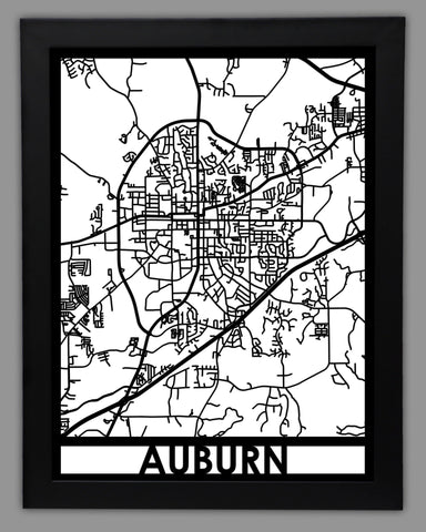 Auburn - Cool Cut Map Gift