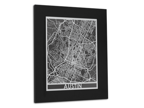 Austin - Stainless Steel Map - 11
