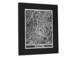 "Austin - Stainless Steel Map - 11"" x 14"" - Cool Cut Map Gift"
