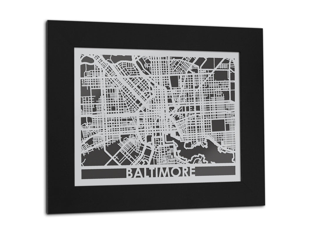 Baltimore - Stainless Steel Map - 11