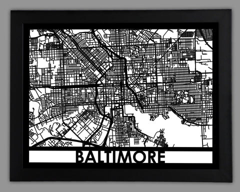 Baltimore - Cool Cut Map Gift