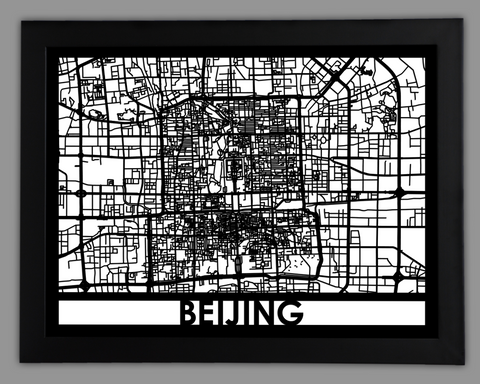 Beijing - Cool Cut Map Gift