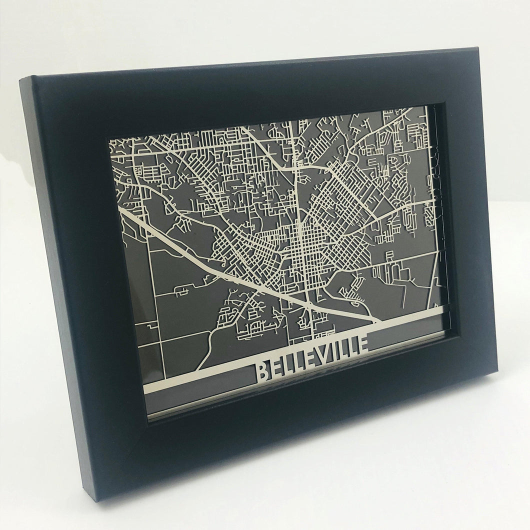 Belleville - Stainless Steel Map - 5