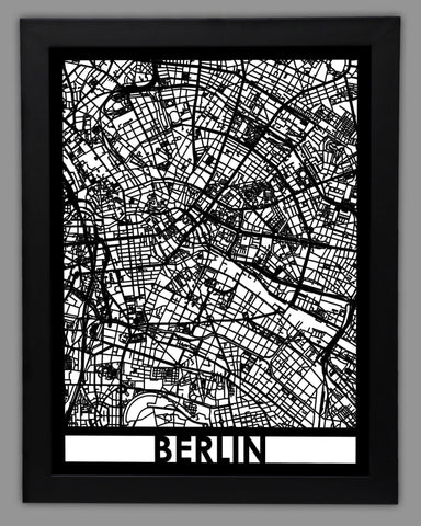 Berlin - Cool Cut Map Gift