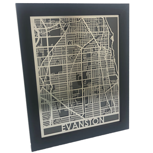 Evanston - Stainless Steel Map - 11