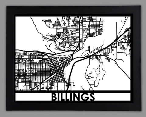 Billings - Cool Cut Map Gift