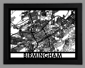 Birmingham - Cool Cut Map Gift