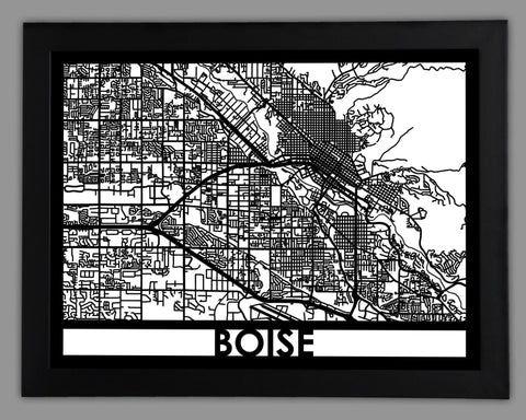 Boise - Cool Cut Map Gift