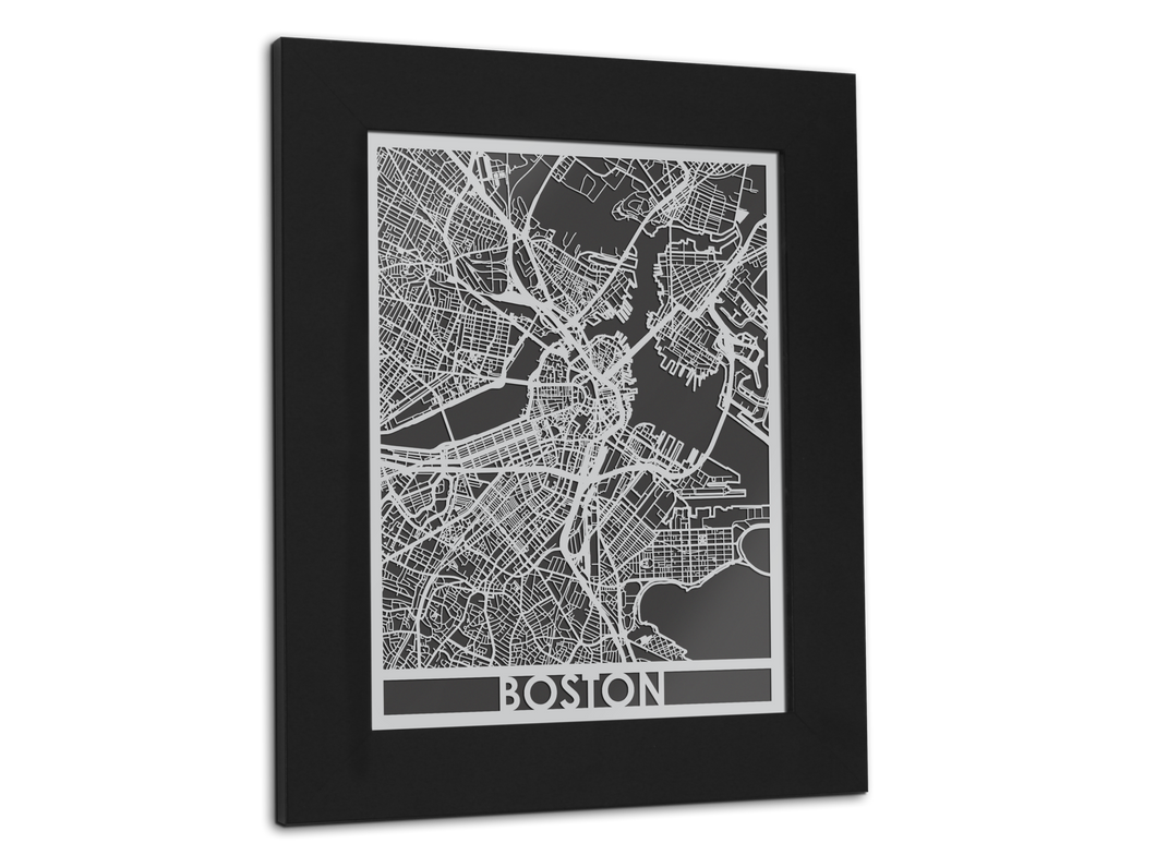 Boston - Stainless Steel Map - 11