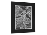 "Boston - Stainless Steel Map - 11"" x 14"" - Cut Maps - 1"