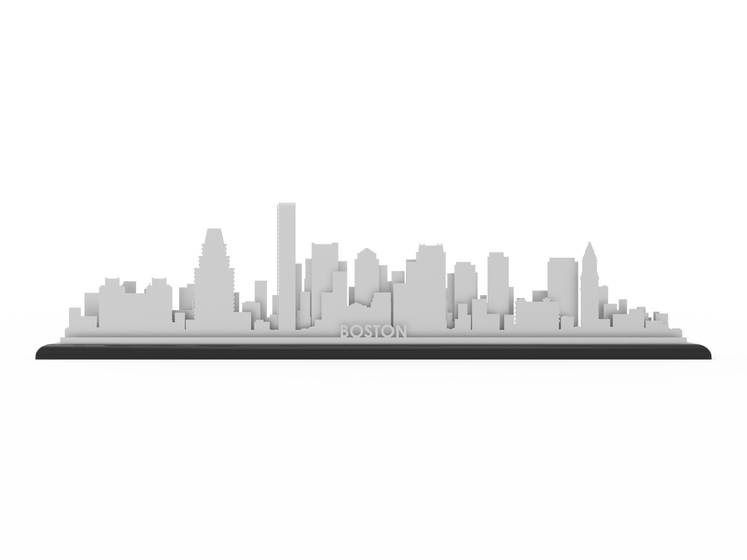 Boston Stainless Steel Skyline - Cool Cut Map Gift