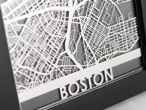 Boston - Stainless Steel Map - 5