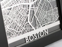 "Load image into Gallery viewer, Boston - Stainless Steel Map - 5""x7"""