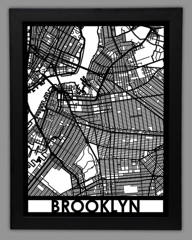 Brooklyn - Cool Cut Map Gift