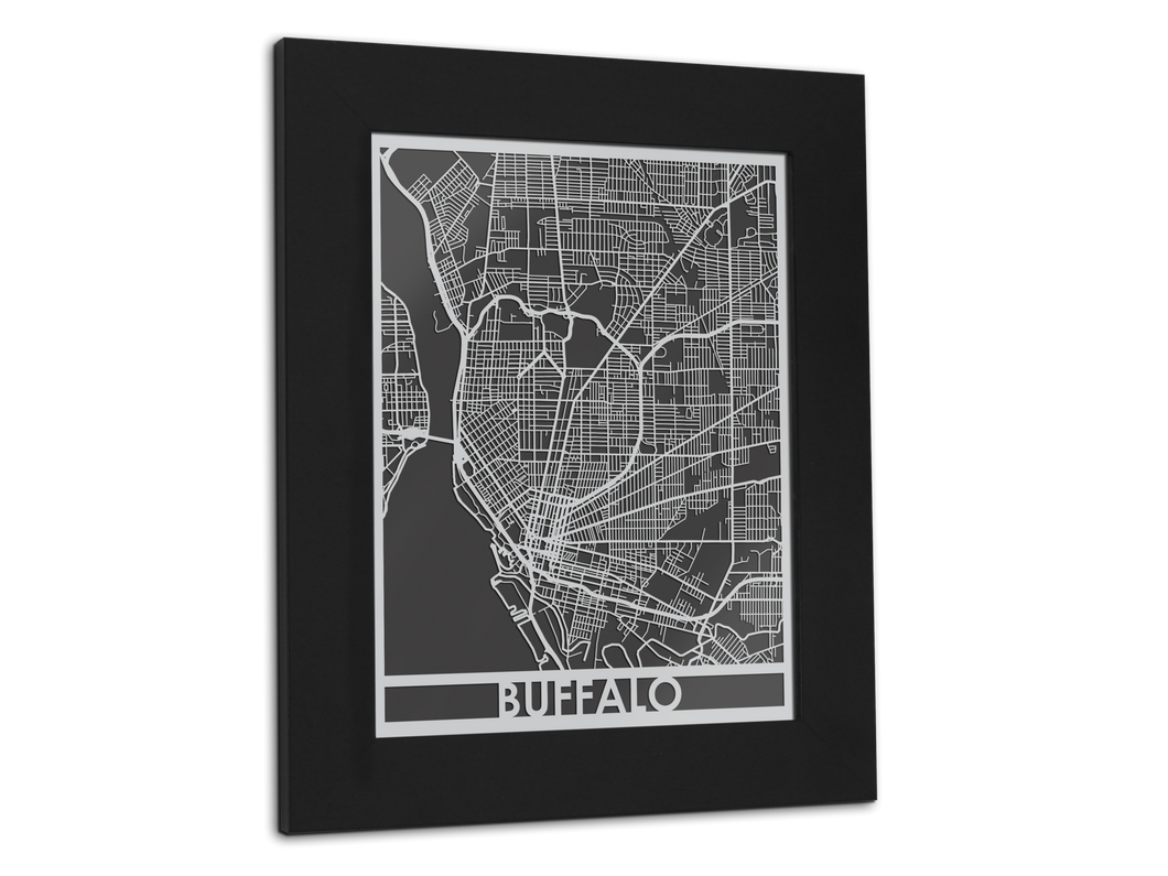 Buffalo - Stainless Steel Map - 11
