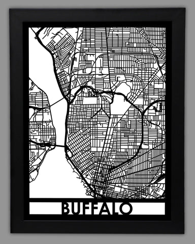 Buffalo - Cool Cut Map Gift