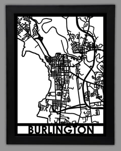 Burlington - Cool Cut Map Gift