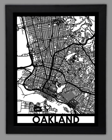 Oakland - Cool Cut Map Gift