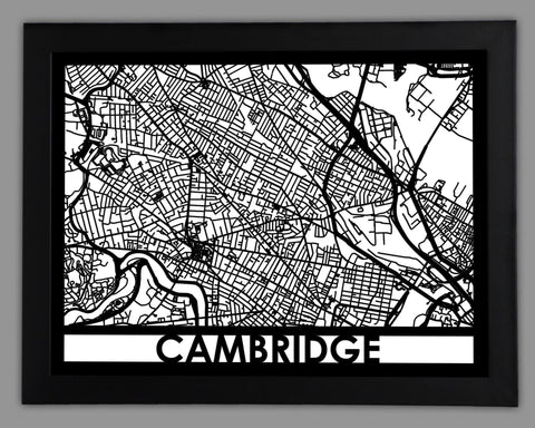 Cambridge - Cool Cut Map Gift