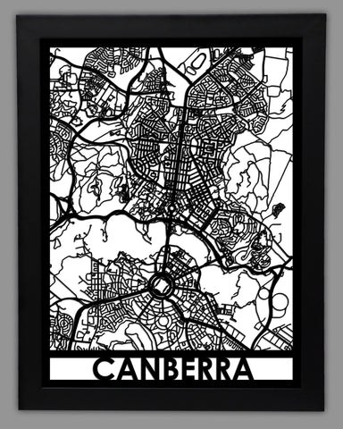 Canberra - Cool Cut Map Gift