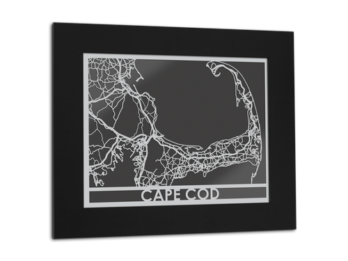 Cape Cod - Stainless Steel Map - 11
