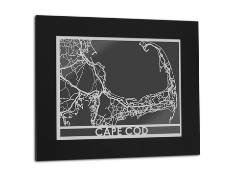 "Cape Cod - Stainless Steel Map - 11"" x 14"" - Cut Maps - 1"