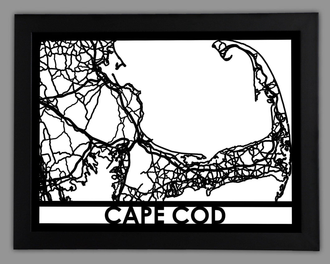 Cape Cod - Cool Cut Map Gift