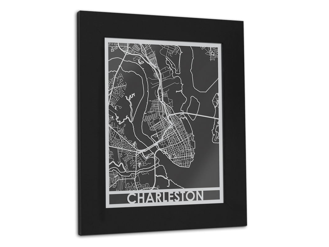 Charleston - Stainless Steel Map - 11