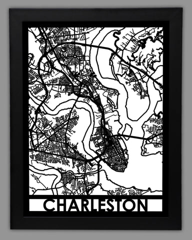 Charleston, SC - Cut Maps