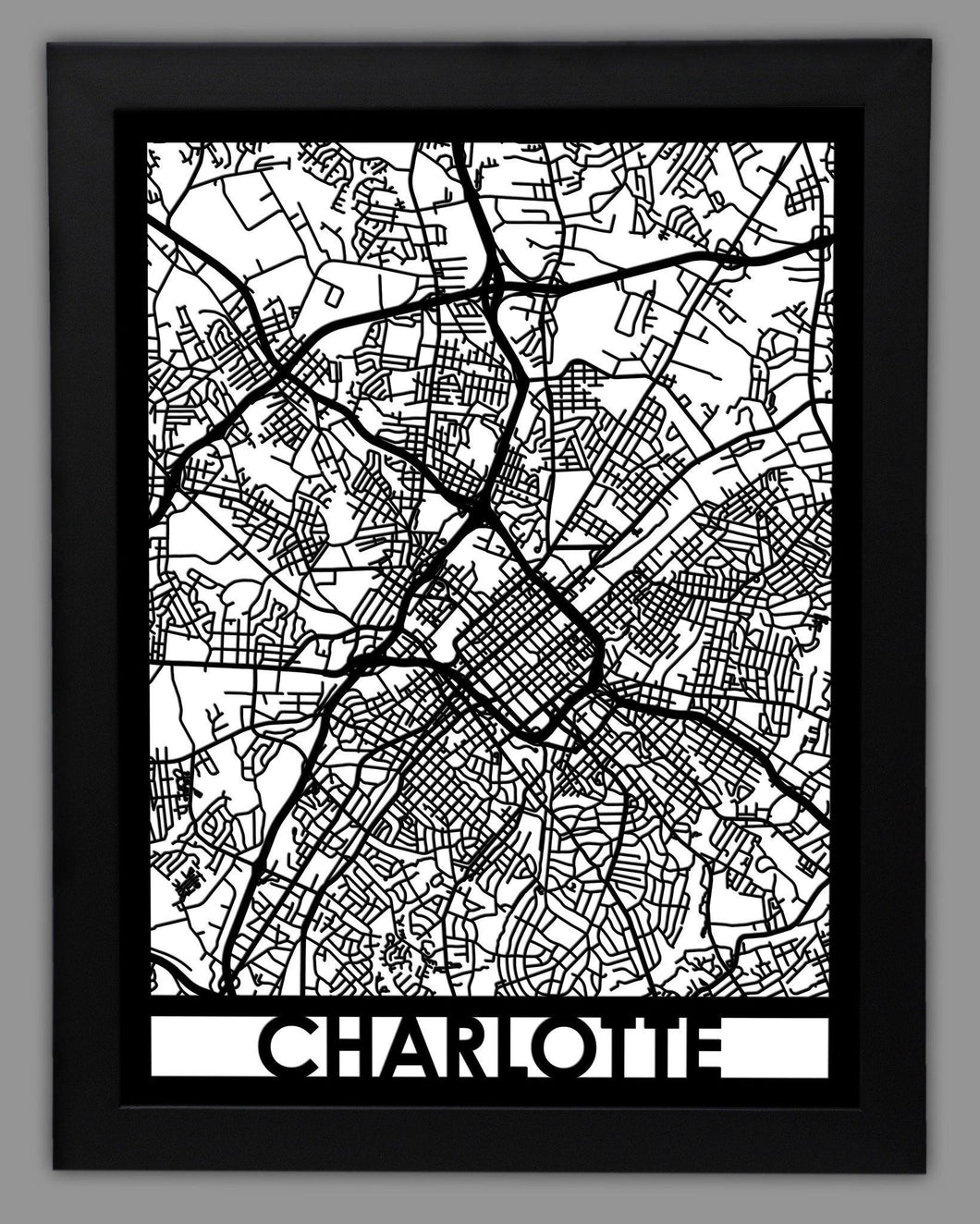 Charlotte - Cool Cut Map Gift