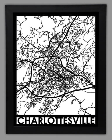 Charlottesville - Cool Cut Map Gift