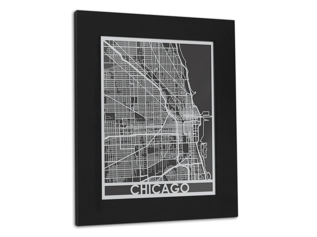 Chicago - Stainless Steel Map - 11