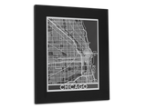 "Chicago - Stainless Steel Map - 11"" x 14"" - Cut Maps - 1"