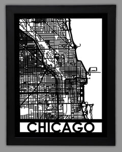 Chicago - Cool Cut Map Gift
