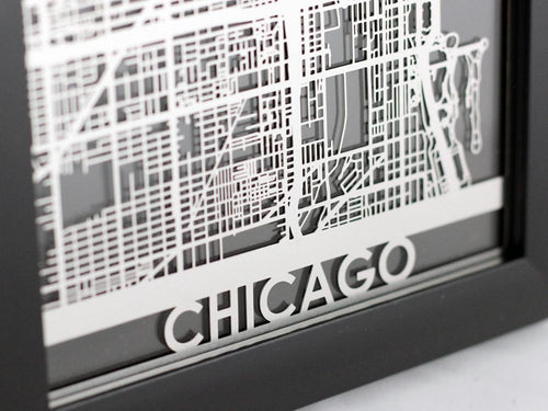 Chicago - Stainless Steel Map - 5